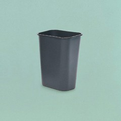 Rectangular Wastebasket Small, Gray
