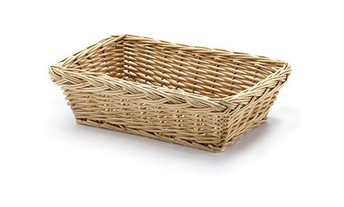 "Rectangular Willow Basket, 10"" x 7"" x 3"""