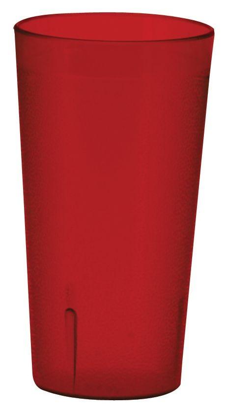Winco PTP-32R Red Pebbled Plastic Tumbler 32 oz.