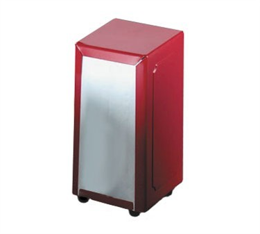 TableCraft 2211 Full Size Red Napkin Dispenser