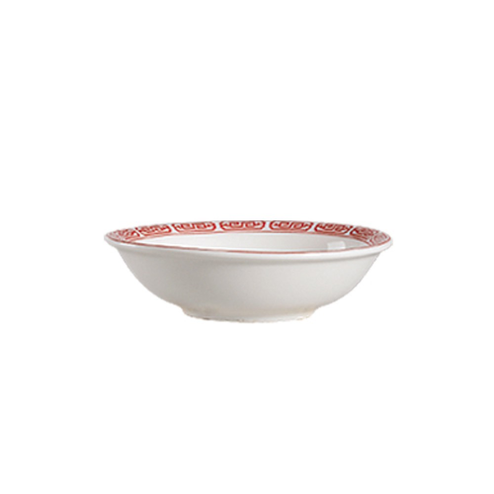 "CAC China 105-43 Red Gate 3"" Sauce Dish"
