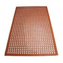 "Winco RBM-35R Red Anti-Fatigue Floor Mat 3' x 5' x 1/2"", Grease-Resistant"