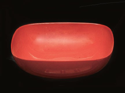 Thunder Group PS3111RD Passion Red Melamine 128 oz. Round Square Serving Bowl 11""