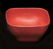 Thunder Group PS3106RD Passion Red Melamine 20 oz. Round Square Bowl