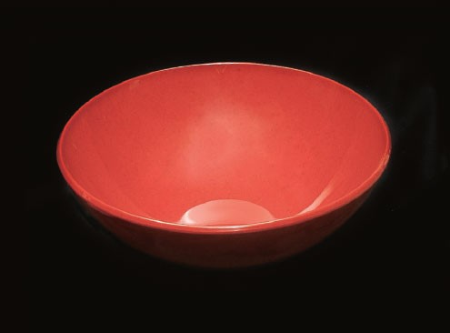 Thunder Group PS3110RD Passion Red Melamine 96 oz. Serving Bowl