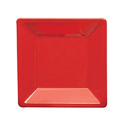 Thunder Group PS3211RD Passion Red Melamine Square Plate 10-1/4""