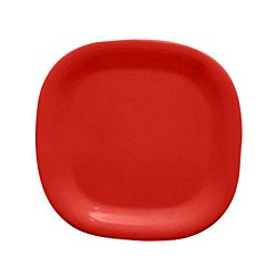 "Thunder Group PS3010RD Passion Red Melamine Round Square Plate 11"" x 11"""