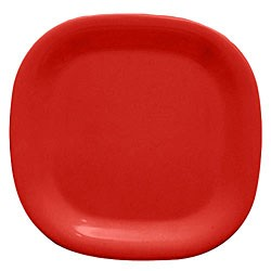 Red Melamine Rounded Square Plate - 14