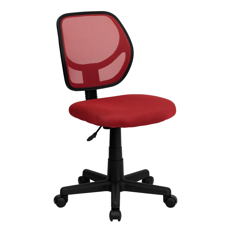 Flash Furniture WA-3074-RD-GG Red Mesh Computer Chair