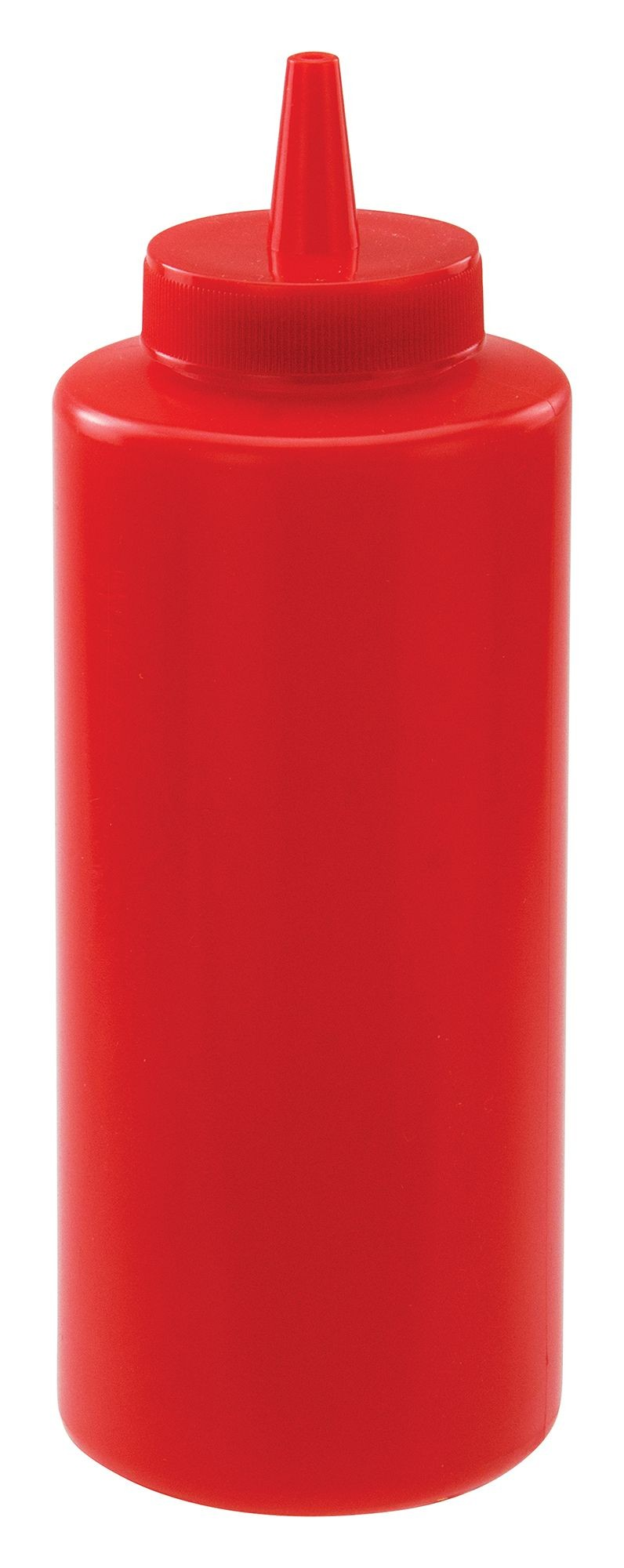 Winco PSB-12R Red Plastic 12 oz. Squeeze Bottle