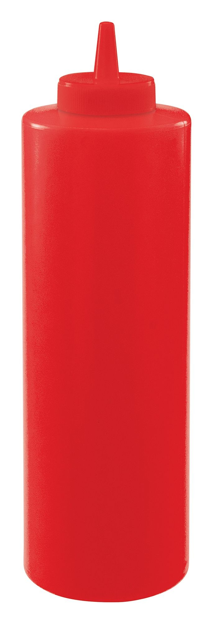 Winco psb-24r Red Plastic 24 oz. Squeeze Bottle