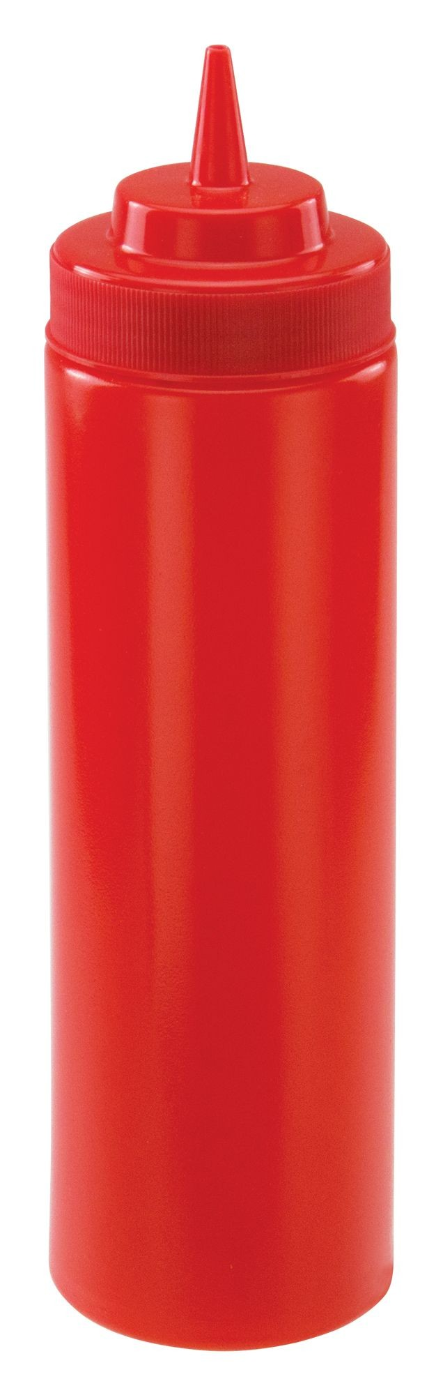 Winco PSW-24R Red Plastic 24 oz. Wide-Mouth Squeeze Bottle