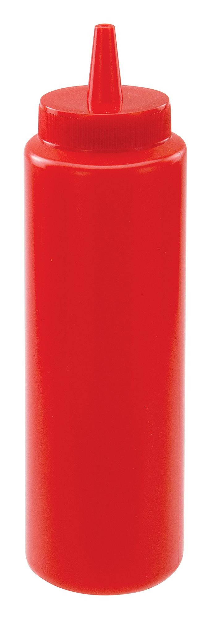 Winco PSB-08R Red Plastic 8 oz. Squeeze Bottle