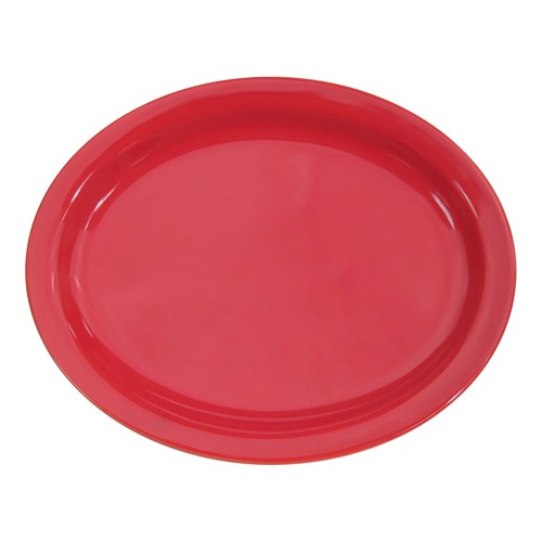 "CAC China L-13NR-R Las Vegas Narrow Rim Red Platter, 11 1/2"""