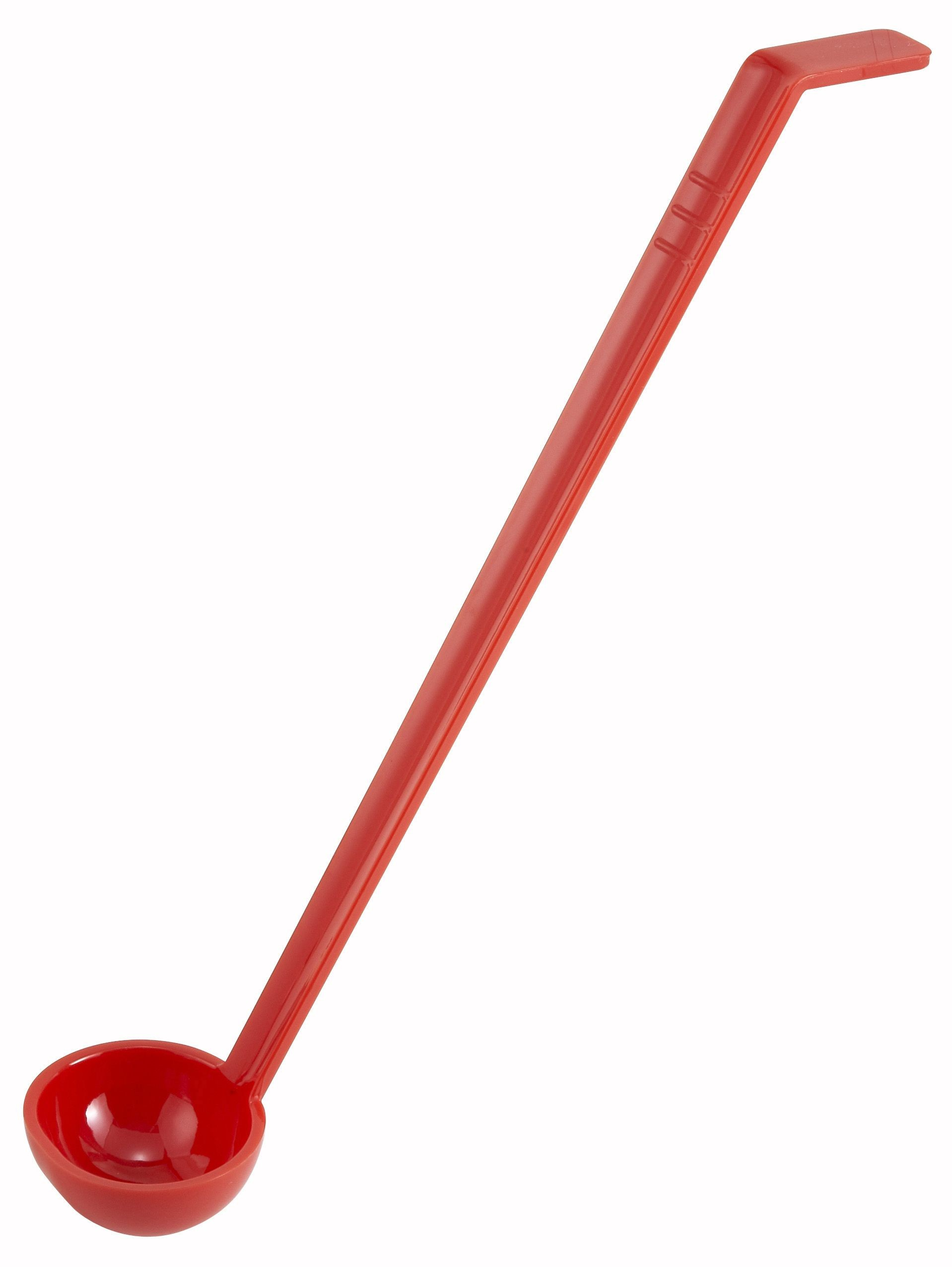 Red Polycarbonate One-Piece 1-Oz. Ladle - 13