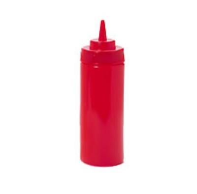 G.E.T. Enterprises SB-16-R Red Plastic 16 oz. Wide Mouth Squeeze Dispenser