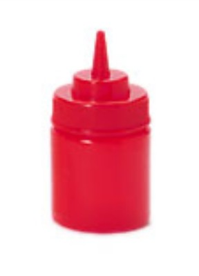 Red Polyethylene 8 oz., 2.75