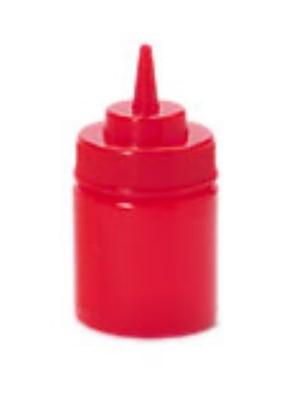 G.E.T. Enterprises SB-8-R Red Plastic 8 oz. Wide Mouth Squeeze Dispenser