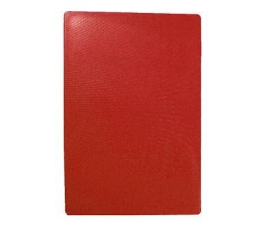 """TableCraft CB1218RA Red Polyethylene Cutting Board 12"""" x 18"""" x 1/2"""""""
