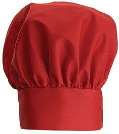 """Winco CH-13RD Red Professional Chef Hat, 13"""""""