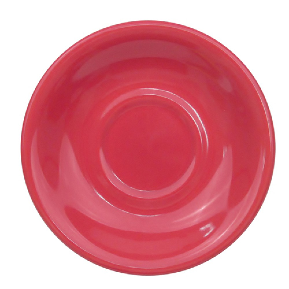 CAC China LV-2-R Las Vegas Rolled Red Saucer, 6""