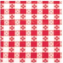 "Winco TBCS-52R Red Checkered Square Vinyl Table Cloth 52"" x 52"""