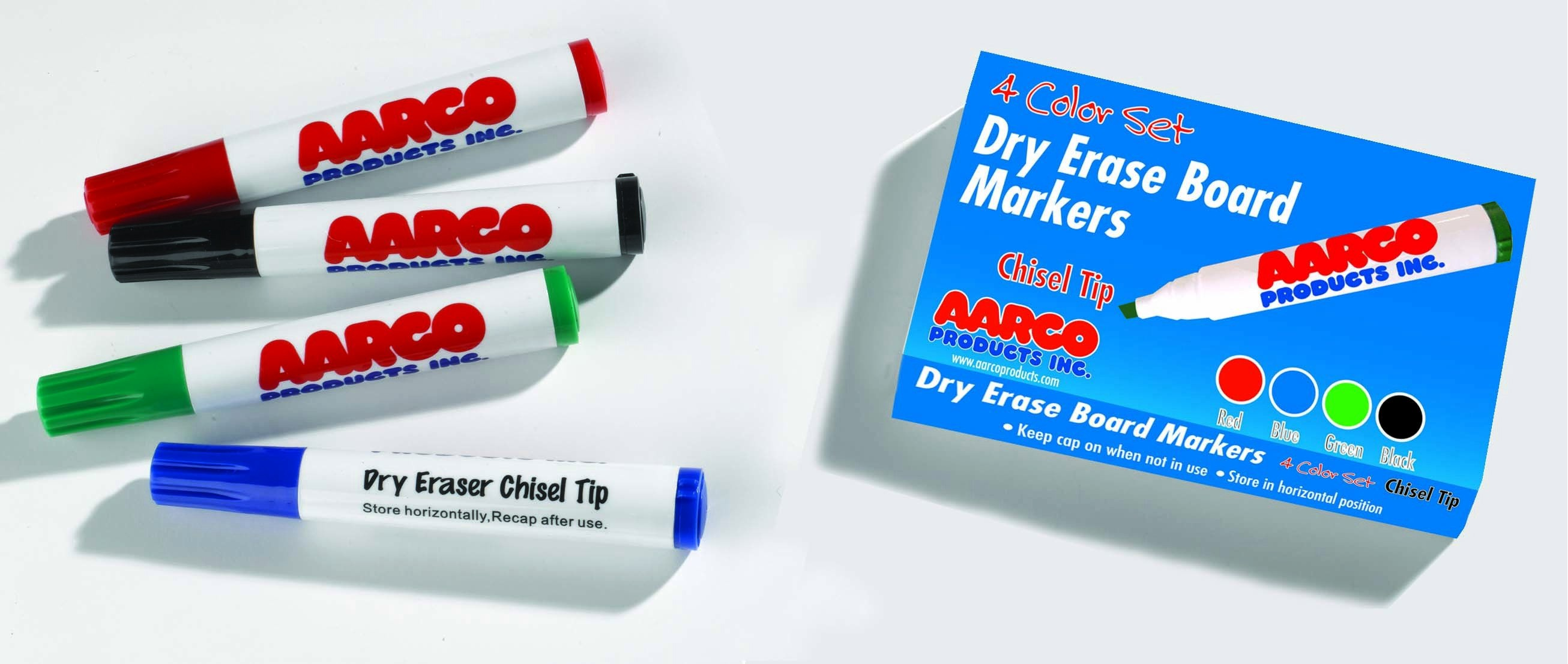Reduced Odor Dry Erase Markers