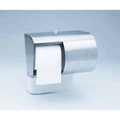 Reflections Tissue Dispenser, 2 Roll, Coreless, 10-1/10 x 6-2/5 x 7-1/10, Silver