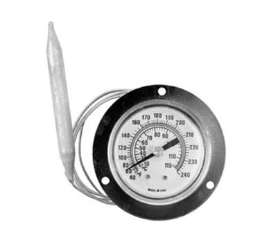 Refrigerator/Freezer Flange Thermometer - -40 To 240F