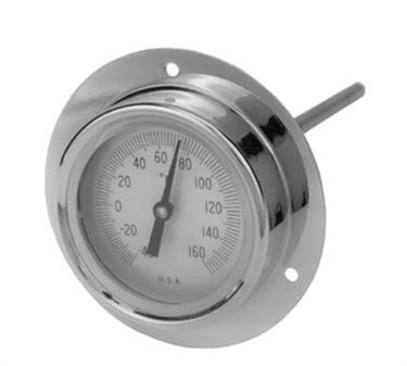 Refrigerator Recessed Flange Thermometer - 40 To 160F