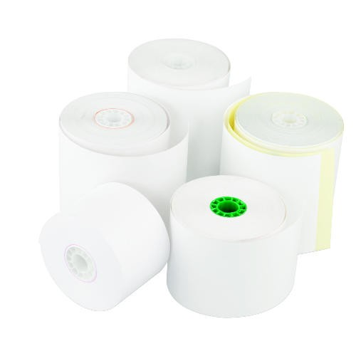 Register Roll, 44 mm x 130 ft, White Bond 1 Ply