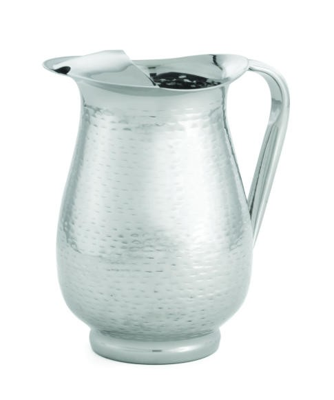 TableCraft RP68 Remington Stainless Steel Beverage Pitcher with Ice Guard 2 Qt.