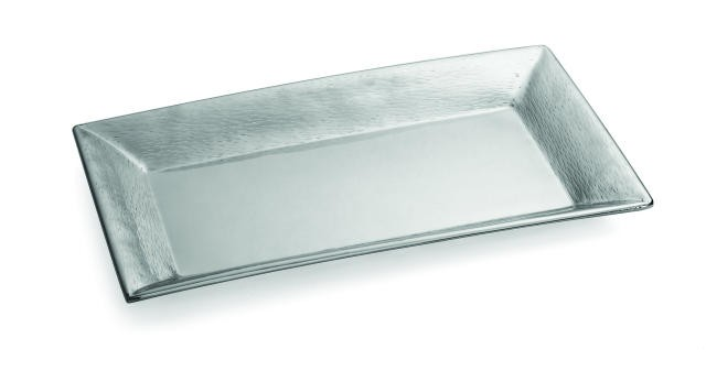 "TableCraft R2212 Remington Collection Rectangular Stainless Steel Tray 22"" x 12"" x 1-1/2"""
