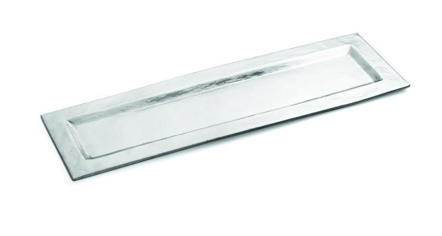 "TableCraft R247 Remington Collection Rectangular Stainless Steel Tray 23-1/2"" x 7-1/4"""