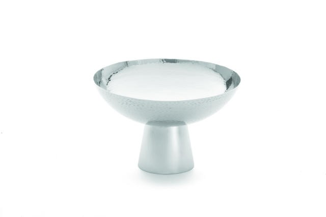 TableCraft RP1208 Remington Round Stainless Steel Bowl with Pedestal 4.1 Qt.