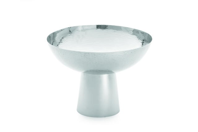 Remington Round Stainless Steel Bowl With Pedestal - 14