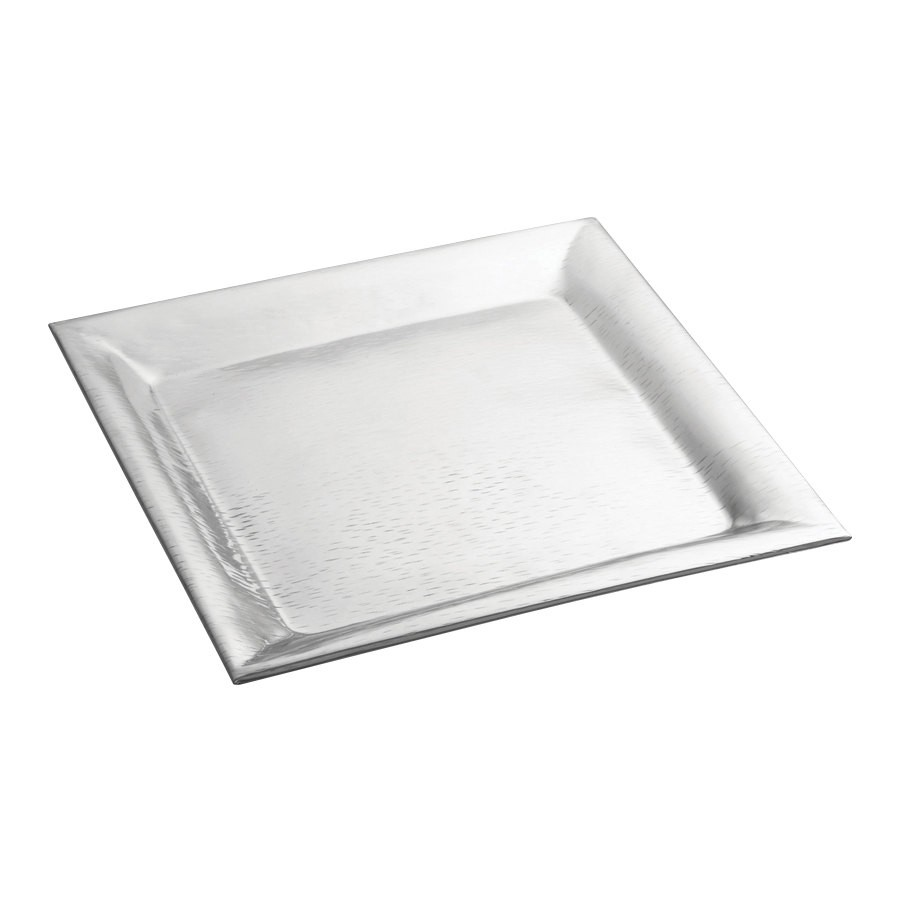 "TableCraft R2222 Remington Collection Square Stainless Steel Tray 22"" x 22"""