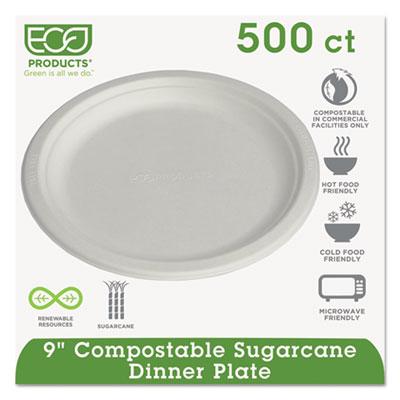 Renewable & Compostable Sugarcane Plates, 9