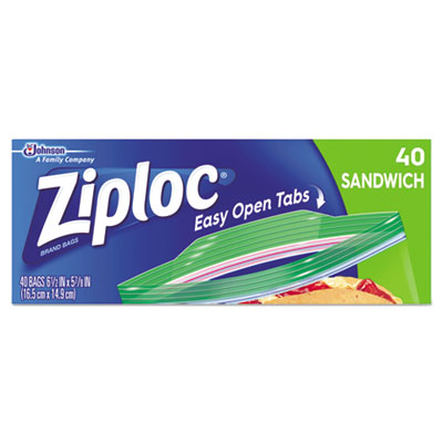 Resealable Sandwich Bags, 1.2 mil, 6.5