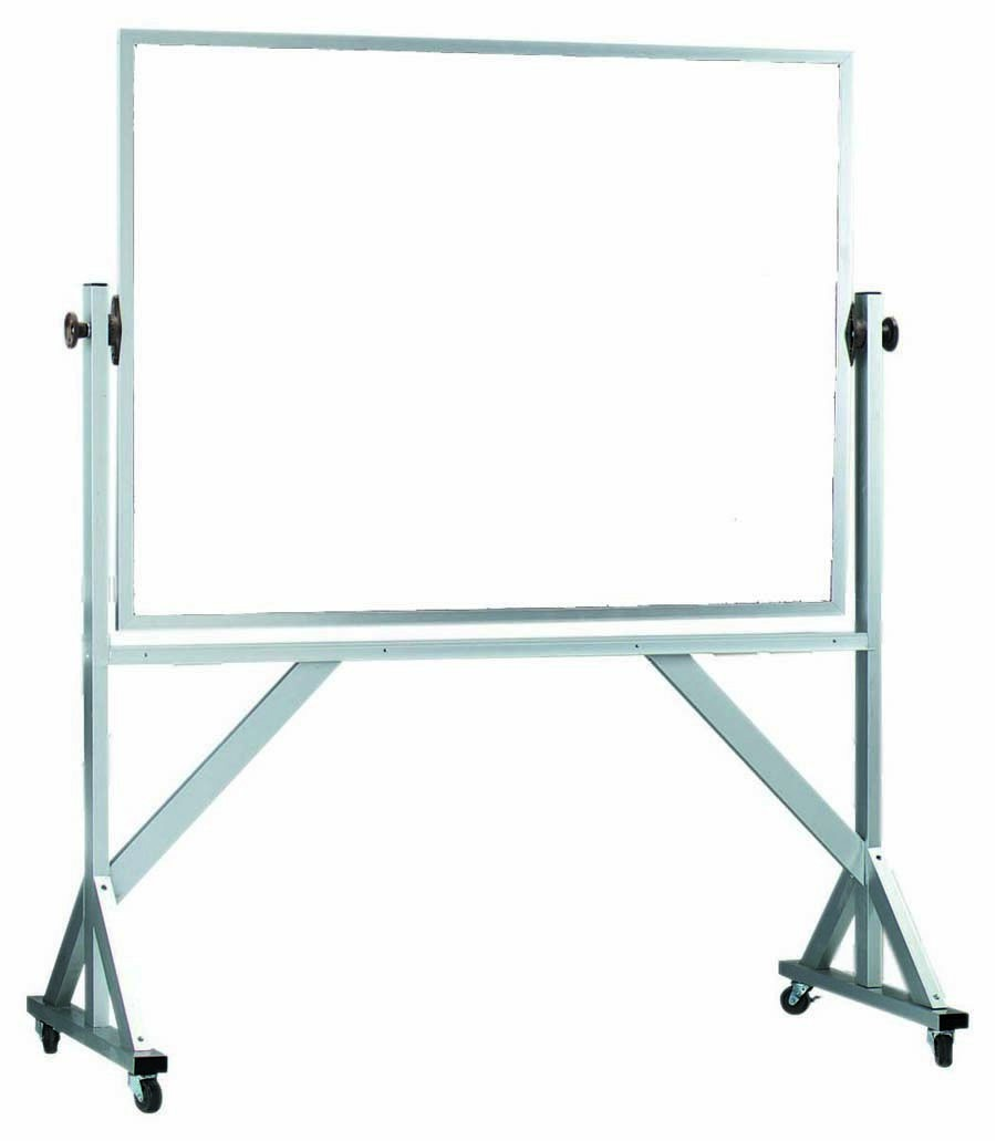 """Aarco Products WARC3648 Reversible Free Standing Aluminum Frame Melamine Marker board Both Sides, 48""""W x 36""""H"""