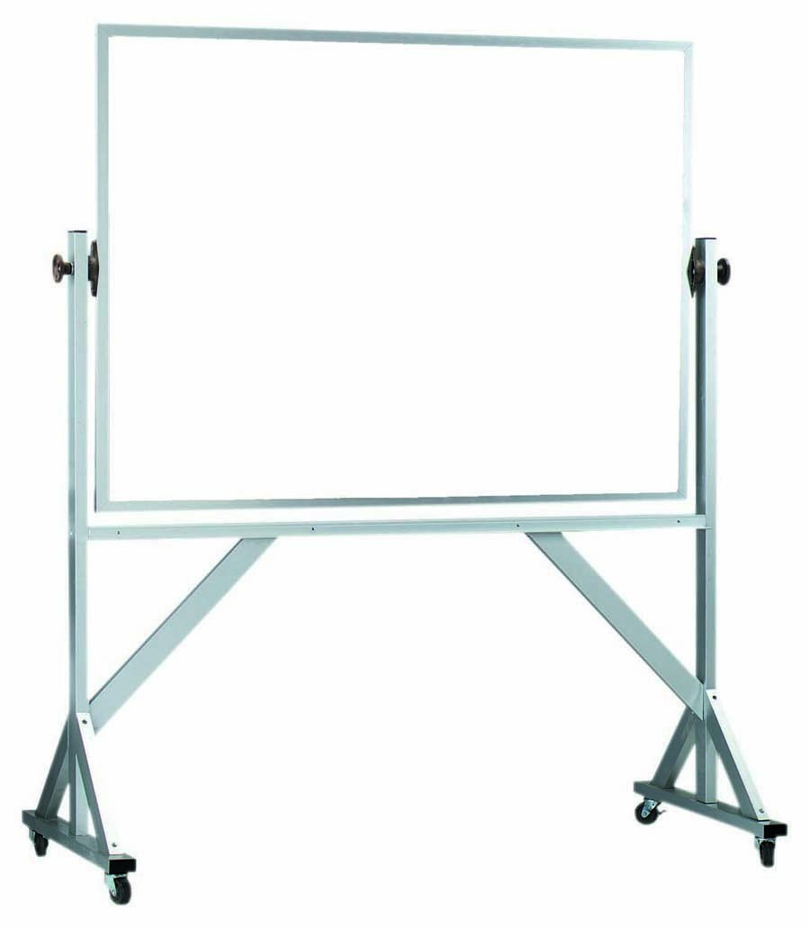 "Aarco Products WARC4260 Reversible Free Standing Aluminum Frame Melamine Marker board Both Sides, 60""W x 42""H"