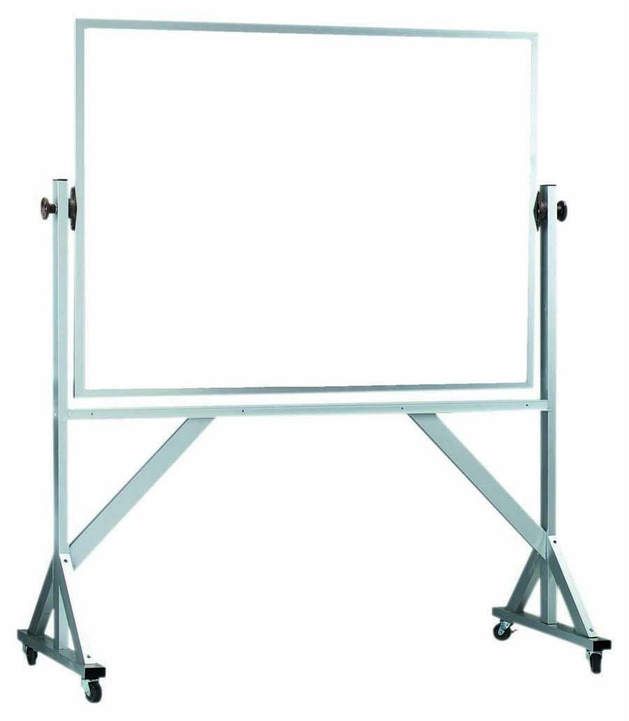 Reversible Free Standing Aluminum Frame Melamine Markerboard Both Sides - 42