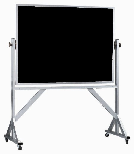 Reversible Free Standing Aluminum Frame Composition Chalkboard Both Sides (Choice of colors) - 36
