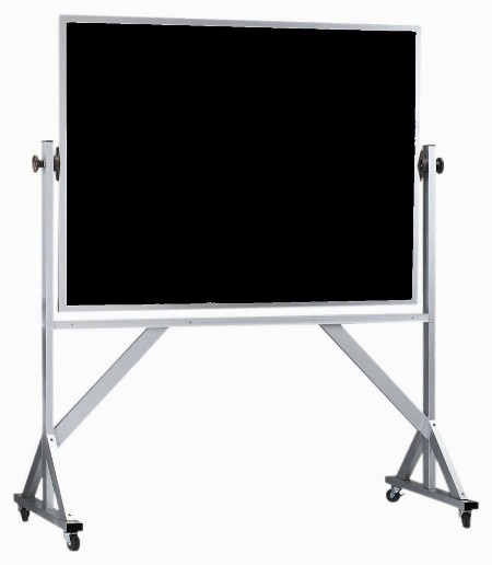 "Aarco Products ARC4260 Reversible Free Standing Aluminum Frame Composition Chalkboard, 42""H x 60""W"