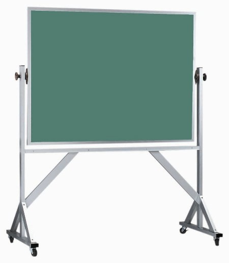 Reversible Free Standing Aluminum Frame Composition Chalkboard Both Sides (Choice of colors) - 48