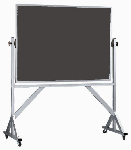 """Aarco Products ARS3648 Reversible Free Standing Aluminum Frame Porcelain Chalkboard, 48""""W x 36""""H"""