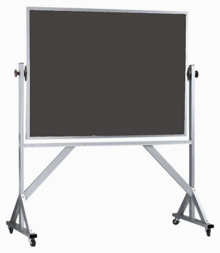 """Aarco Products ARS4260 Reversible Free Standing Aluminum Frame Porcelain Chalkboard, 60""""W x 42""""H"""