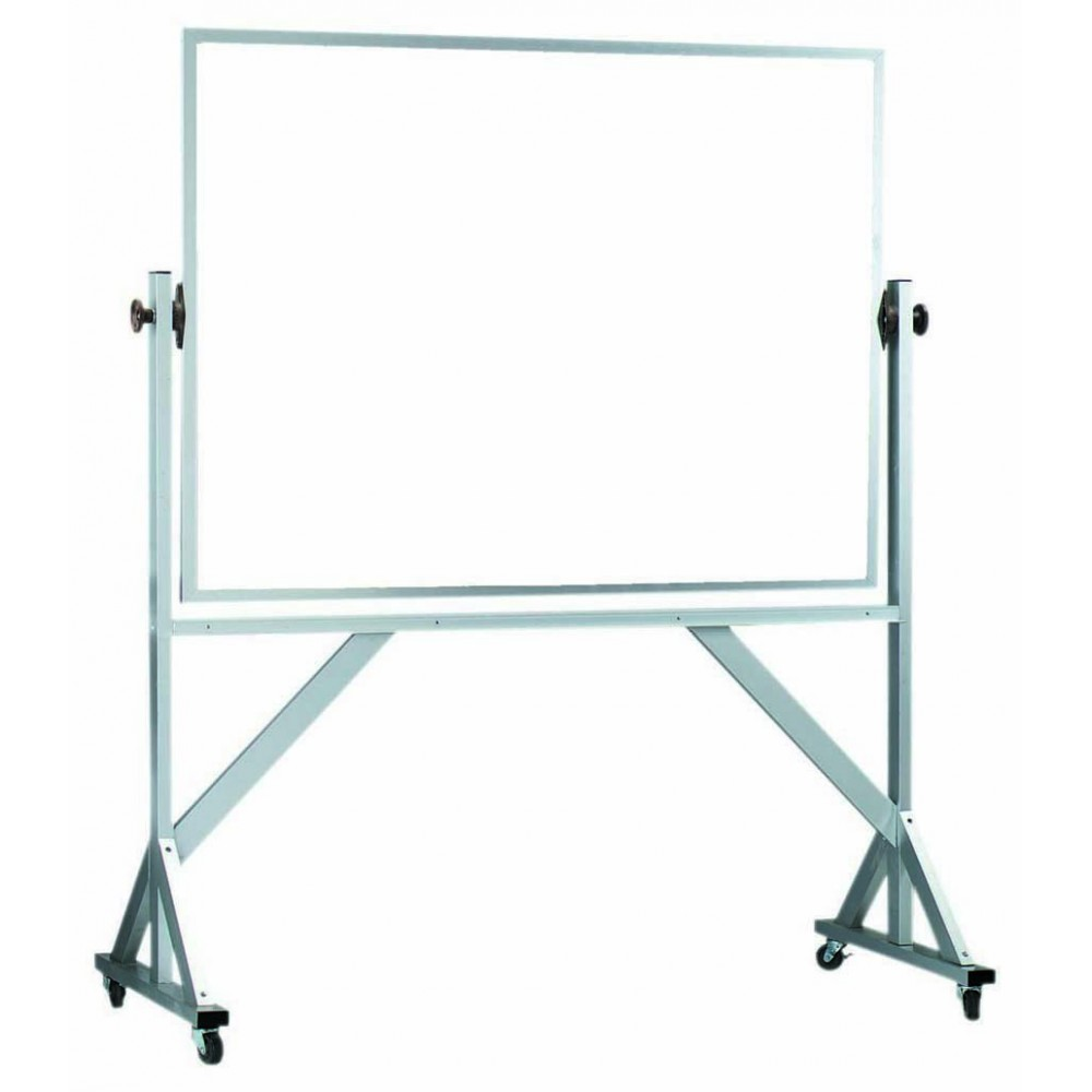 "Aarco Products WARS4260 Reversible Free Standing Aluminum Frame Porcelain Markerboard Both Sides, 42""H x 60""W"