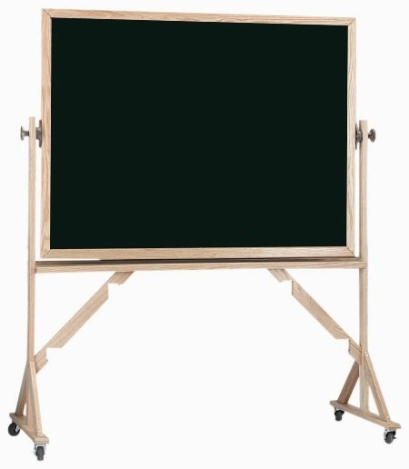 "Aarco Products RC4872 Reversible Free Standing Oak Frame Composition Chalkboard Both Sides (Choice of Colors), 48""H x 72""W"