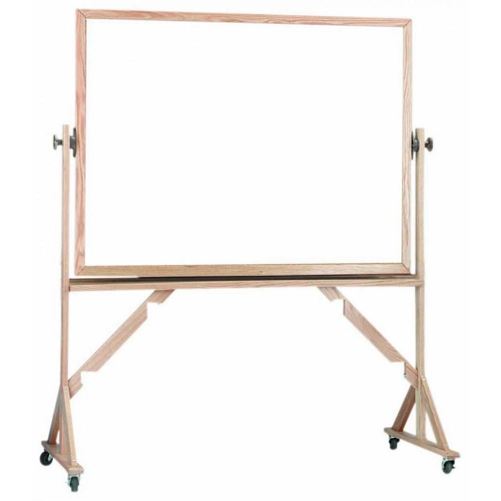 Reversiblefree Standing Oak Frame Melamine Markerboard Both Sides - 42